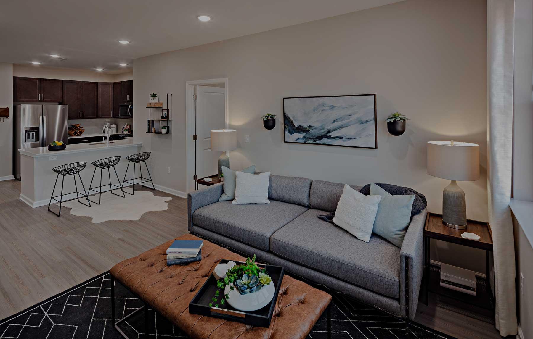 The Lofts at Monroe Parke Living Room interior