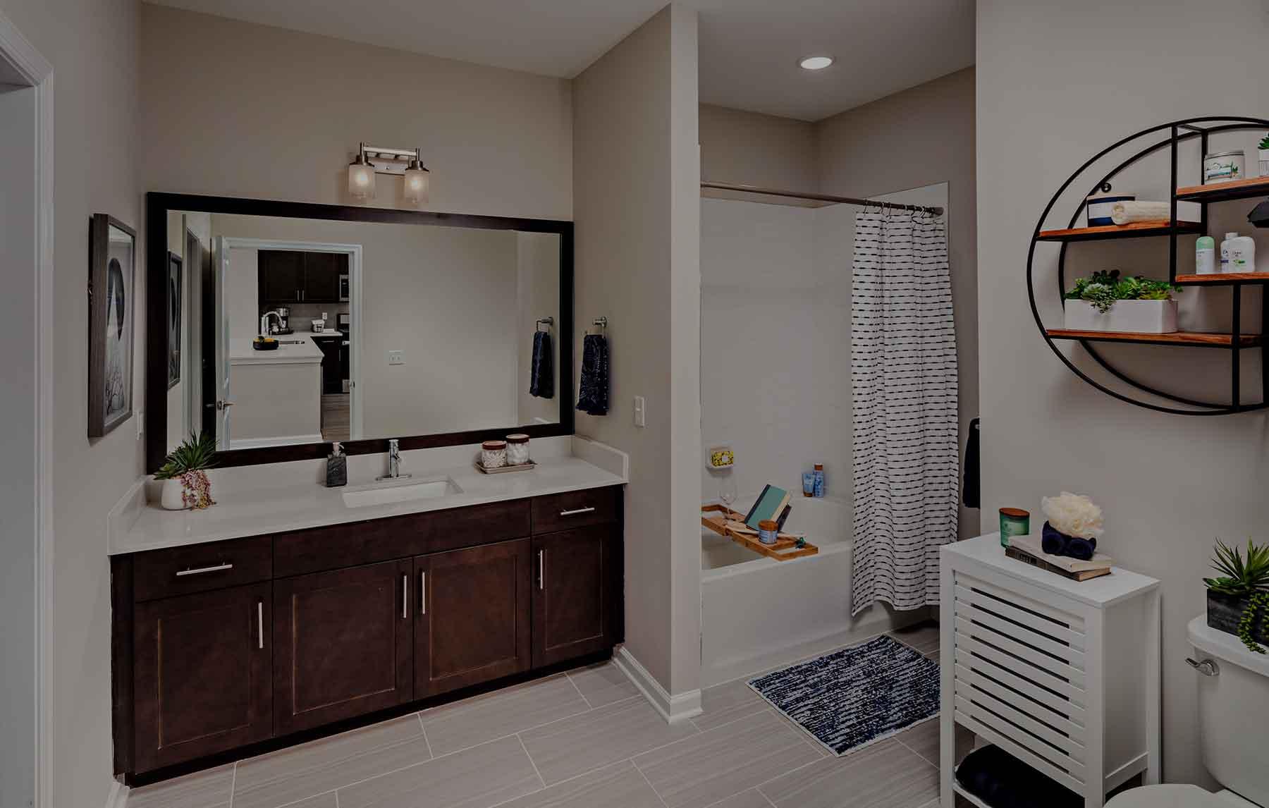 The Lofts at Monroe Parke bathroom interior